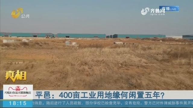 平邑:400亩工业用地缘何闲置五年?
