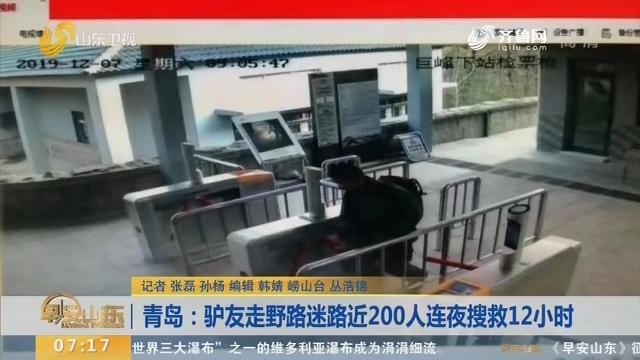 【闪电新闻排行榜】青岛:驴友走野路迷路近200人连夜搜救12小时