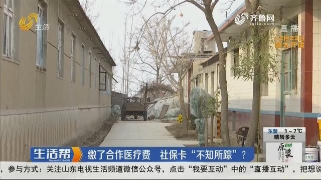 """潍坊:缴了合作医疗费 社保卡""""不知所踪""""?"""