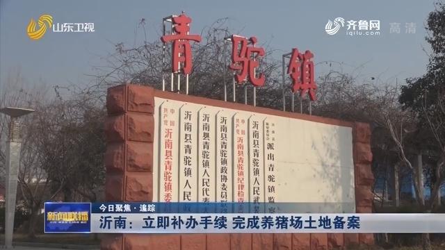 【今日聚焦·追踪】沂南:立即补办手续 完成养猪场土地备案