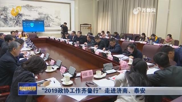 """""""2019政协工作齐鲁行""""走进济南、泰安"""
