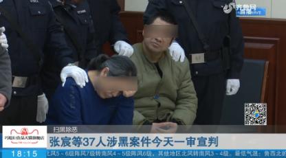 【扫黑除恶】张宸等37人涉黑案件今天一审宣判