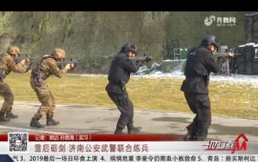 雪后砺剑 济南公安武警联合练兵