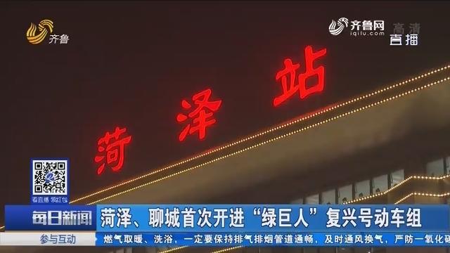 """菏泽、聊城首次开进""""绿巨人""""复兴号动车组"""