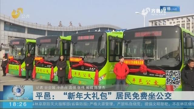 """平邑:""""新年大礼包""""居民免费坐公交"""