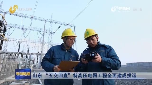 """山东""""五交四直""""特高压电网工程全面建成投运"""
