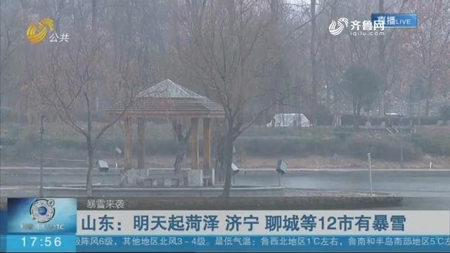 【暴雪来袭】山东:明天起菏泽 济宁 聊城等12市有暴雪