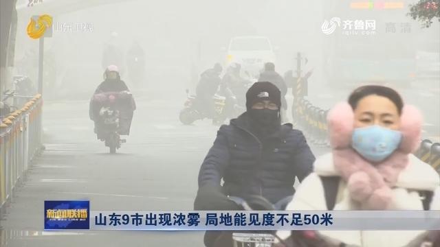 山东9市出现浓雾 局地能见度不足50米