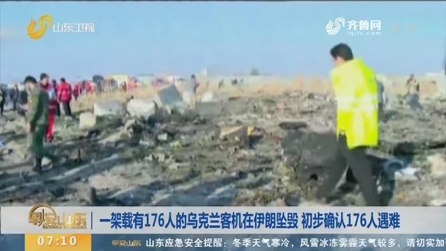 一架载有176人的乌克兰客机在伊朗坠毁 初步确认176人遇难