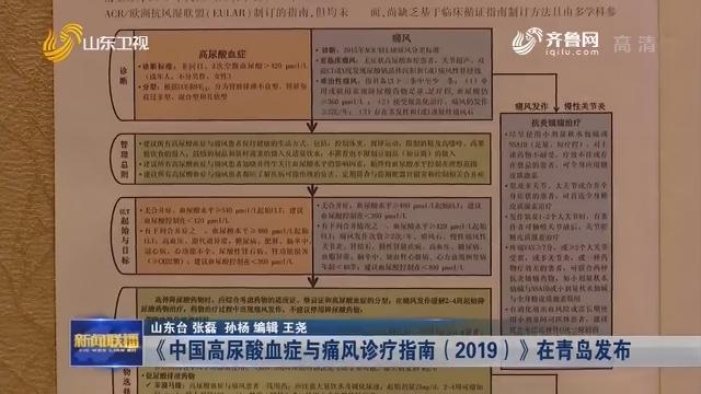 《中国高尿酸血症与痛风诊疗指南(2019)》在青岛发布