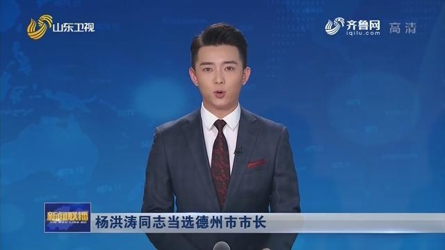 杨洪涛同志当选德州市市长