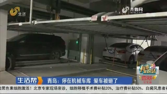 【有事您说话】青岛:停在机械车库 爱车被砸了