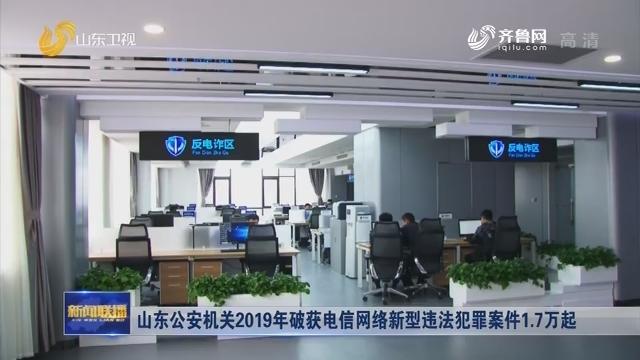 山东公安机关2019年破获电信网络新型违法犯罪案件1.7万起