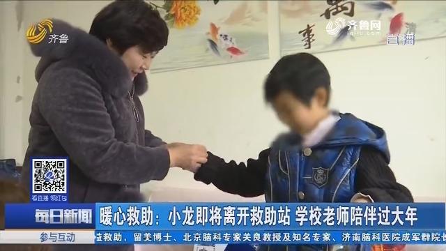 暖心救助:小龙即将离开救助站 学校老师陪伴过大年