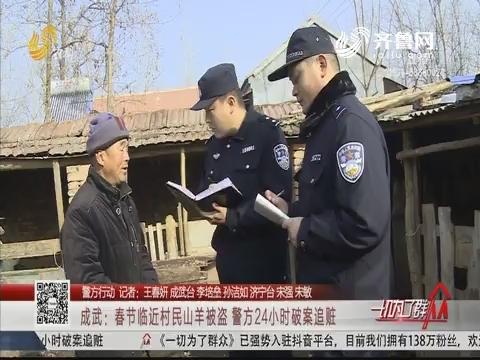 【警方行动】成武:春节临近村民山羊被盗 警方24小时破案追赃