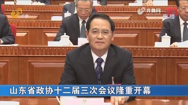 山东省政协十二届三次会议隆重开幕