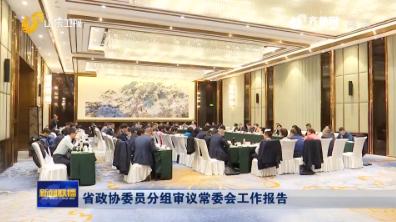 省政协委员分组审议常委会工作报告