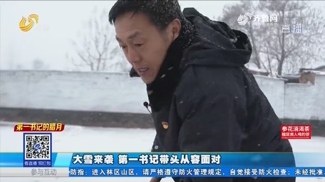 【第一书记的腊月】大雪来袭 第一书记带头从容面对