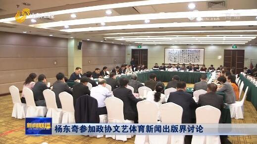杨东奇参加政协文艺体育新闻出版界讨论