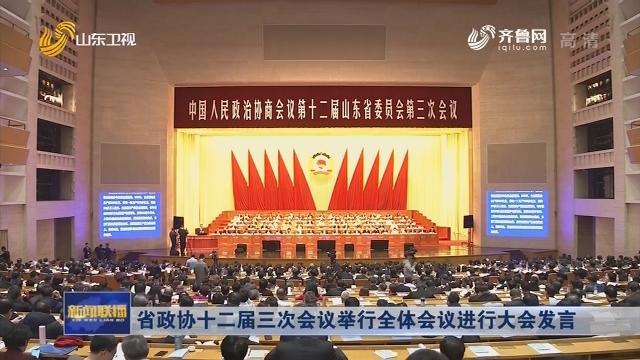 省政协十二届三次会议举行全体会议进行大会发言