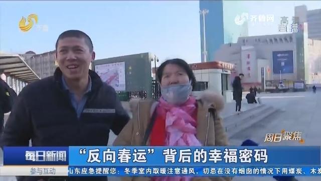 """【周日聚焦】""""反向春运""""背后的幸福密码"""