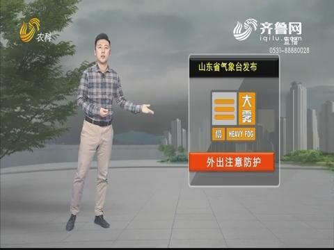 看天气:山东省气象台发布大雾预警