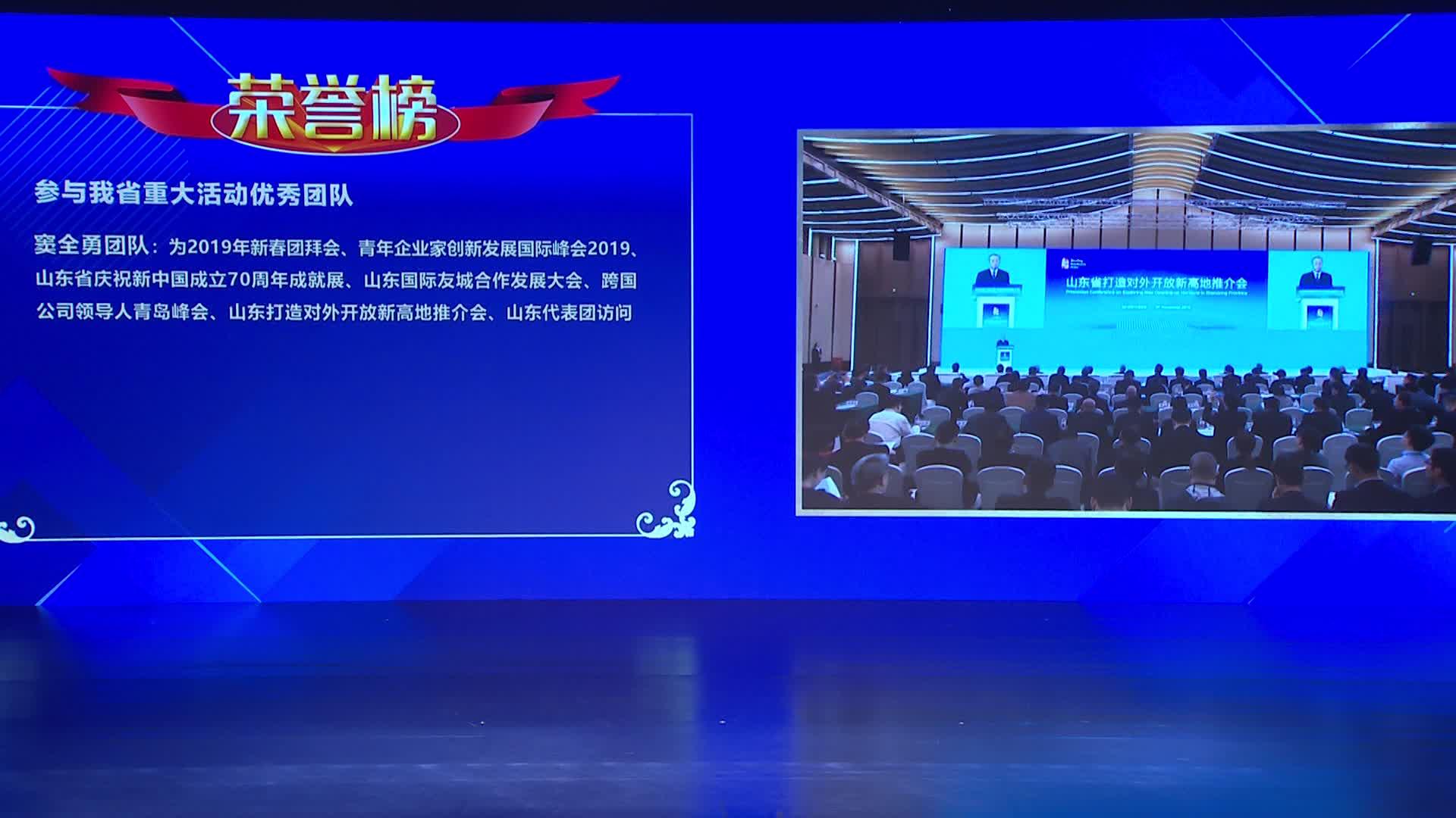 参与山东省重大活动优秀团队