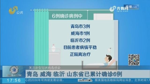 青岛 威海 临沂 山东省已累计确诊6例