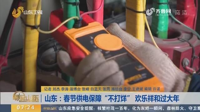 """山东:春节供电保障""""不打烊"""" 欢乐祥和过大年"""