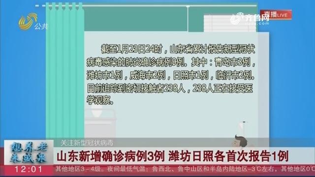 【关注新型冠状病毒】山东新增确诊病例3例 潍坊日照各首次报告1例