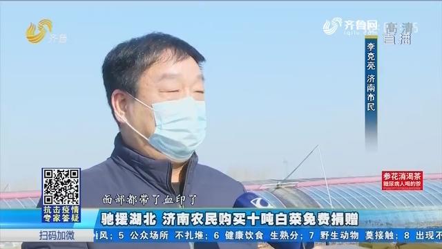 驰援湖北 济南农民购买十吨白菜免费捐赠