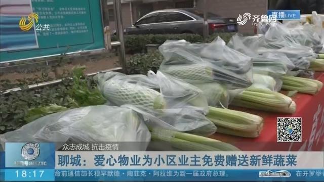 【众志成城 抗击疫情】聊城:爱心物业为小区业主免费赠送新鲜蔬菜