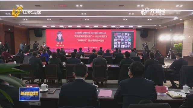 【众志成城 抗击疫情】平度网上签约31个产业项目