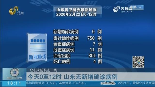 【众志成城 抗击一线】2月22日0至12时 山东无新增确诊病例