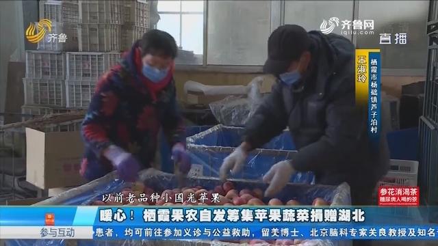暖心!栖霞果农自发筹集苹果蔬菜捐赠湖北