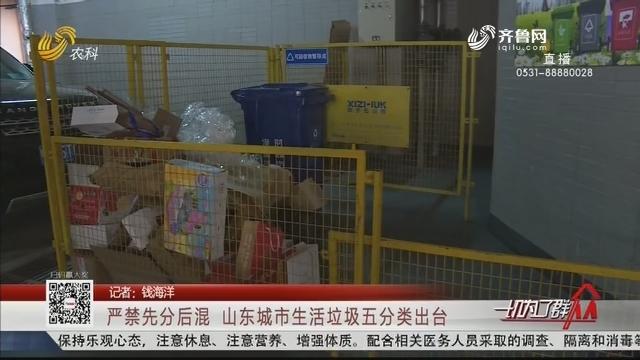 严禁先分后混 山东城市生活垃圾五分类出台