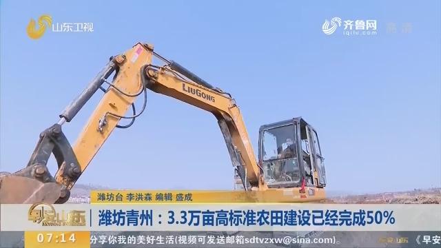 潍坊青州:3.3万亩高标准农田建设已经完成50%