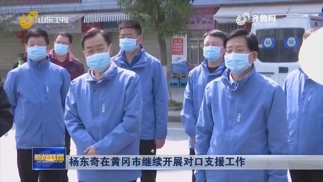 杨东奇在黄冈市继续开展对口支援工作