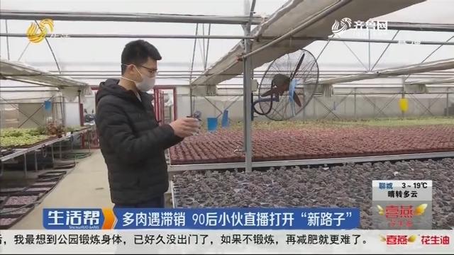 """潍坊:多肉遇滞销 90后小伙直播打开""""新路子"""""""