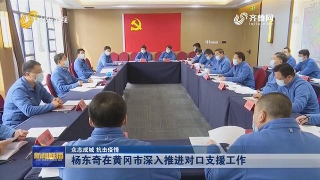 【众志成城 抗击疫情】杨东奇在黄冈市深入推进对口支援工作