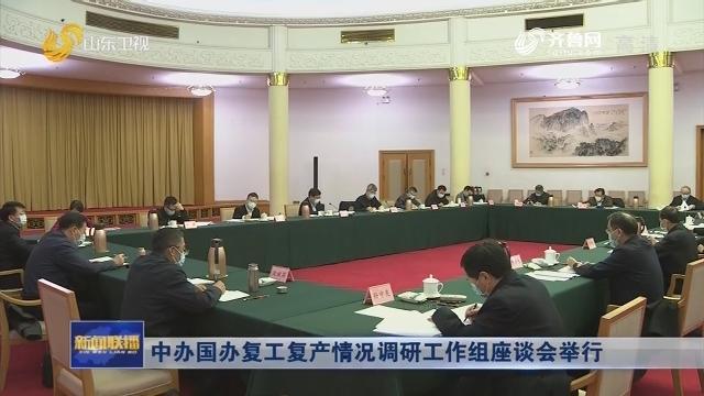 中辦國辦復工復產情況調研工作組座談會舉行