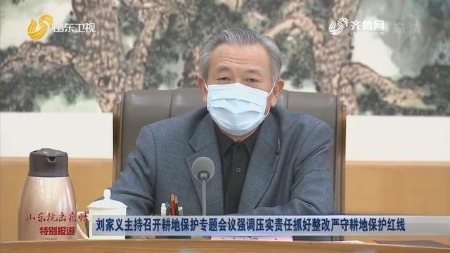刘家义主持召开耕地保护专题会议强调压实责任抓好整改严守耕地保护红线