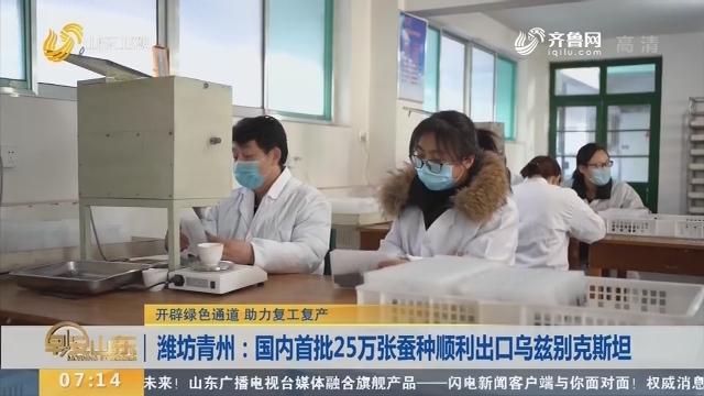 潍坊青州:国内首批25万张蚕种顺利出口乌兹别克斯坦
