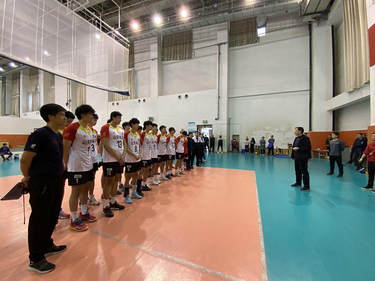 山东男排举行公开课球队目标陕西全运会冲金