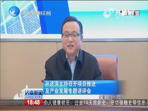 孙述涛主持召开项目推进及产业发展专题讲评会