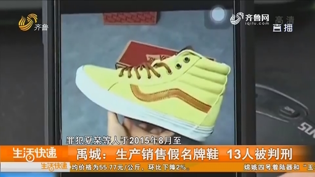 禹城:生产销售假名牌鞋 13人被判刑