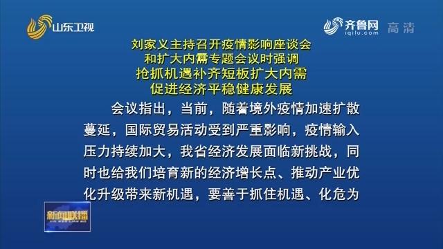刘家义主持召开疫情影响座谈会和扩大内需专题会议