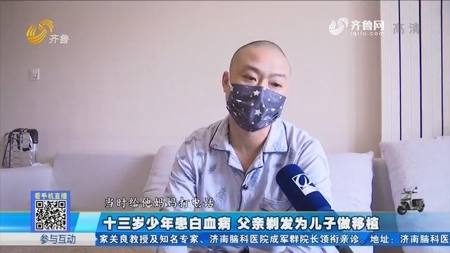 滕州:十三岁少年患白血病 父亲剃发为儿子做移植