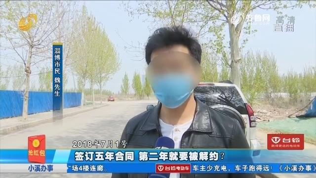 淄博:签订五年合同 第二年就要被解约?