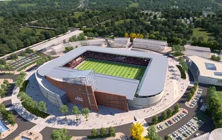 筹备省运会 日照国际足球中心有序建设中